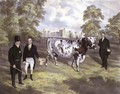 Sir Charles Morgan presenting King William IV with a Shorthorn Bull at Tredegar Castle, Monmouth, 1836 - J.H. Carter