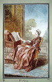 Madame d'Epinay reading, 1759 - Louis (Carrogis) de Carmontelle