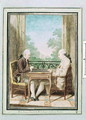 Baron d'Huart and Monsieur de Fraguier Playing Backgammon, c.1760 - Louis (Carrogis) de Carmontelle
