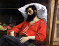 The Convalescent, or The Wounded Man (detail cut by the artist from 'The Visit to the Convalescent') c.1860 - Carolus (Charles Auguste Emile) Duran