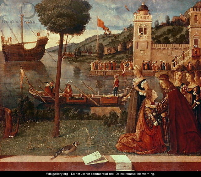 St.Ursula taking leave of her father, c.1500 - Vittore Carpaccio