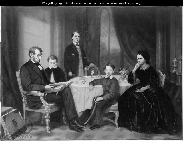 The Lincoln Family, c.1865 - Francis Bicknell Carpenter