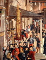 Street Scene, detail from The Miracle of the Relic of the True Cross on the Rialto Bridge, 1494 - Vittore Carpaccio