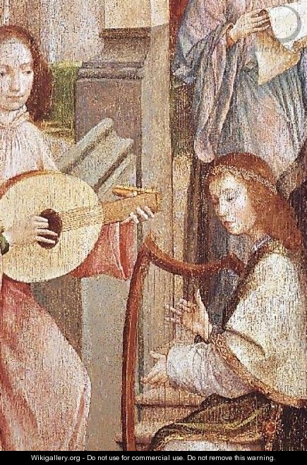 The Annunciation (detail of two Angels Playing Instruments) - Carlos Taborda Vlame Frey