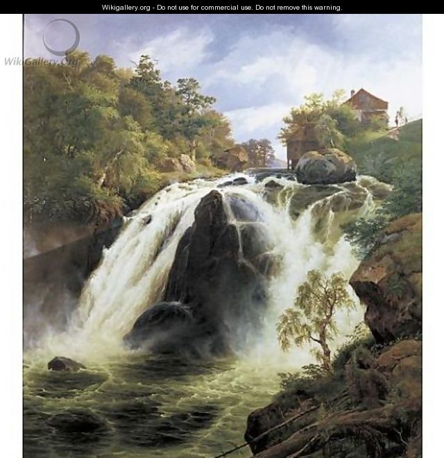 View of the waterfall at Stora Mollan, Sweden - Johann-Hermann Carmiencke