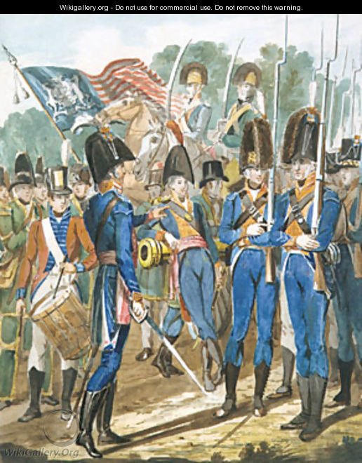 Members of the City Troop and Other Philadelphia Soldiery - John Lewis Krimmel