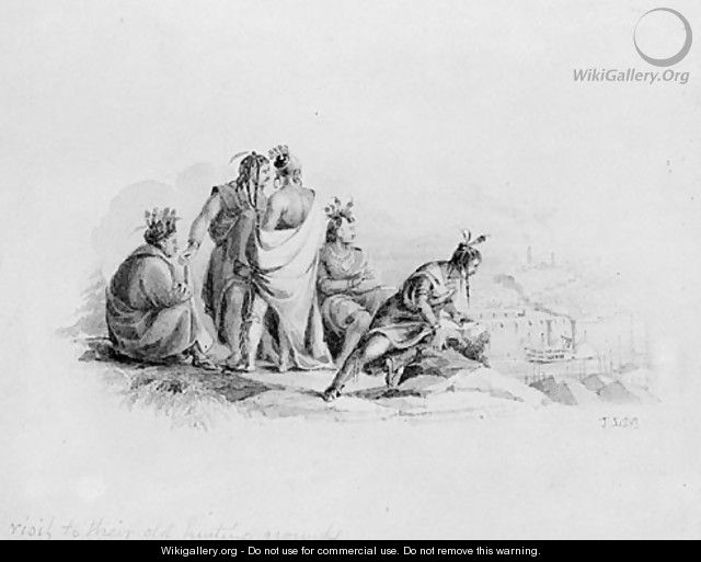 Indians Visiting Their Old Hunting Grounds (from Hosack Album) - John Ludlow Morton