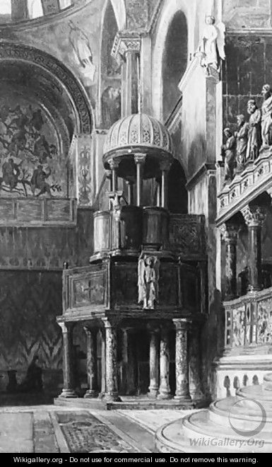 Pulpit in Saint Mark