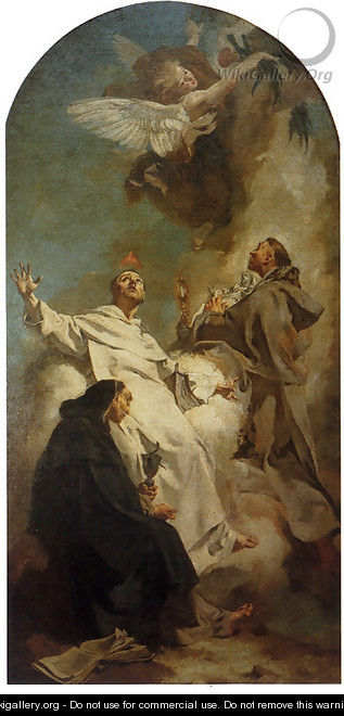 Saints Louis Bertrand, Vincent Ferrer, And Hyacinth - Giovanni Battista Piazzetta