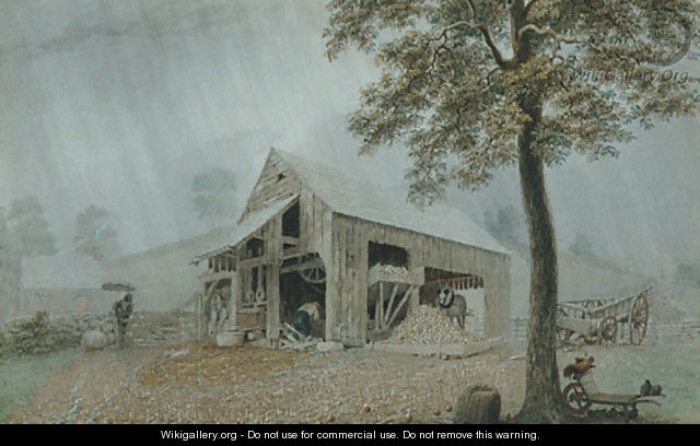 Rainstorm - Cider Mill at Redding, Connecticut - George Harvey