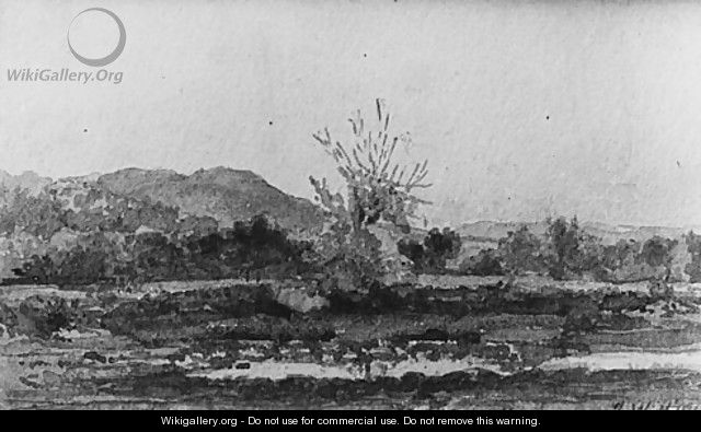 Three Views, No. 3: Mount Carmel, near New Haven, Connecticut - John William Hill