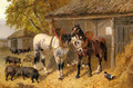 The Farmyard - John Frederick Herring, Jnr.