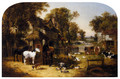 An English Farmyard Idyll - John Frederick Herring, Jnr.