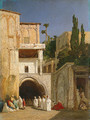 Before a Mosque (Cairo) - Alexandre Gabriel Decamps