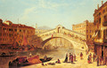 A View of the Rialto Bridge, Venice - James Holland