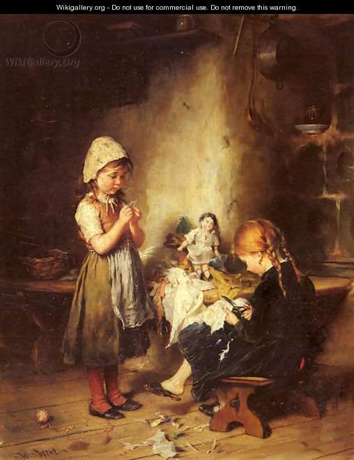 The Young Seamstresses - Heinrich Hirt