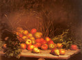 An Overturned Basket Of Fruit And Vegatables - Hubert Bellis