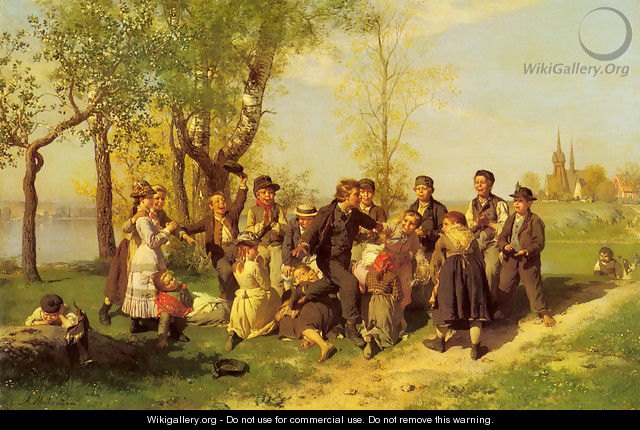 Children At Play - Johan August Malmstrom