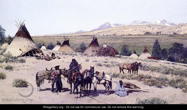 Among the Foothills - Henry Farny