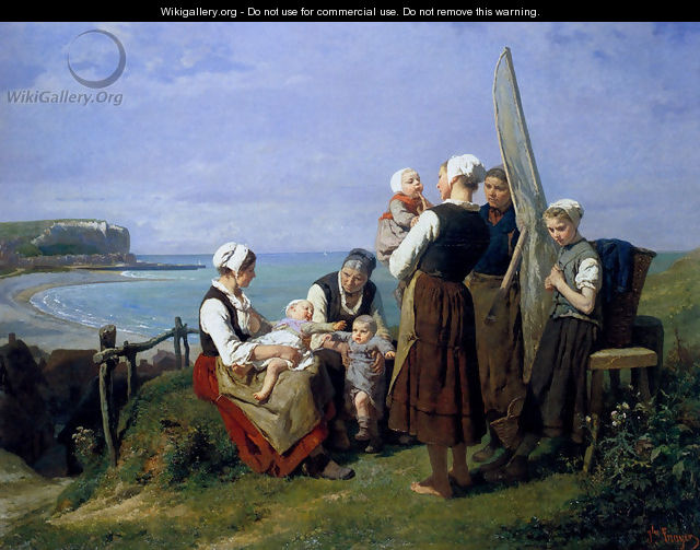 Saturday Afternoon On The Coast Of Normandy - Jules Trayer