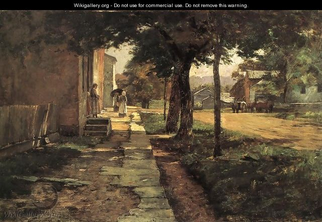 Street in Vernon - Theodore Clement Steele
