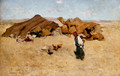 Arab encampment, Biskra - Willard Leroy Metcalf