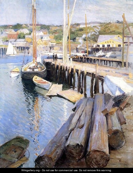 Fish Wharves - Gloucester - Willard Leroy Metcalf