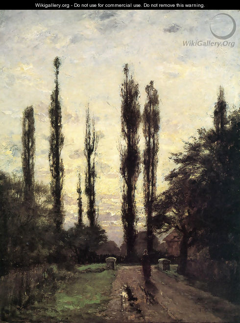 Evening, Poplars - Theodore Clement Steele