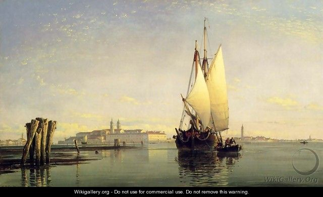 On The Lagoon Of Venice - Edward William Cooke