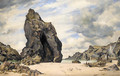 Steeple Rock, Kynance Cove, Lizard, Cornwall, Low Water - Edward William Cooke