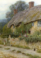 A Mother And Child Entering A Cottage - Helen Mary Elizabeth Allingham, R.W.S.
