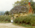 A Cottage With Sunflowers At Peaslake - Helen Mary Elizabeth Allingham, R.W.S.