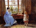 A Mother And Child In An Interior - George Goodwin Kilburne