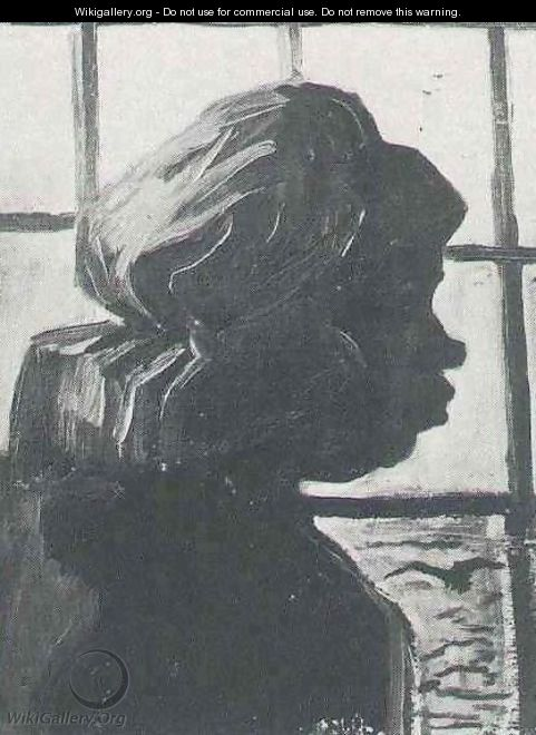 Peasant Woman Seen Against The Window - Vincent Van Gogh