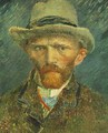 Self Portrait With Grey Felt Hat - Vincent Van Gogh