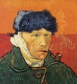 Self Portrait With Bandaged Ear And Pipe - Vincent Van Gogh