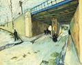 The Railway Bridge Over Avenue Montmajour Arles - Vincent Van Gogh