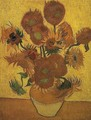 Vase With Fifteen Sunflowers II - Vincent Van Gogh