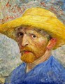 Self Portrait With Straw Hat IV - Vincent Van Gogh