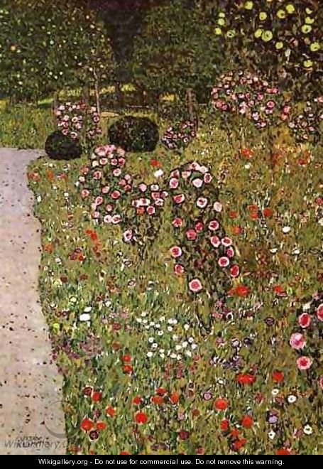 Fruit Garden With Roses - Gustav Klimt
