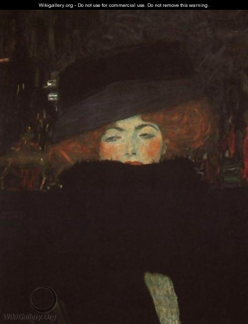 Lady With Hat And Feather Boa - Gustav Klimt