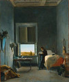 The Artist in His Room at the Villa Medici, Rome - Léon Cogniet
