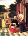 A Mistress and Her Servant - Pieter De Hooch