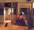A Mother and Child with Its Head in Her Lap - Pieter De Hooch