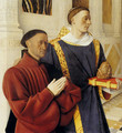 Etienne Chevalier With St. Stephen (panel of the Melun Diptych) - Jean Fouquet