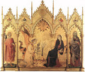 The Annunciation and Two Saints - Simone Martini