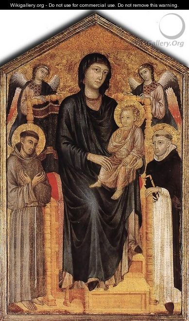 Madonna Enthroned with the Child and Two Angels 2 - (Cenni Di Peppi) Cimabue