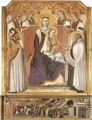 Madonna with Angels between St Nicholas and Prophet Elisha - Pietro Lorenzetti