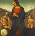 Madonna, an Angel and Little St John Adoring the Child (or Madonna del sacco) - Pietro Vannucci Perugino