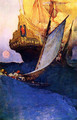 Attack on a Galleon - Howard Pyle